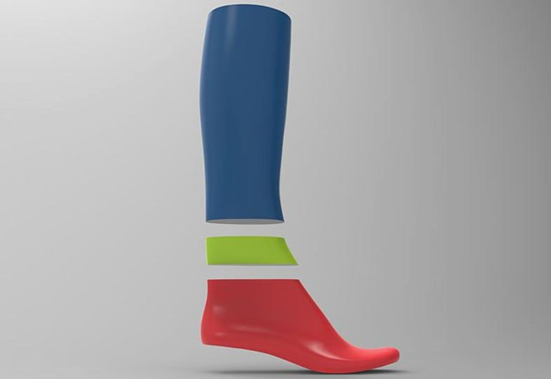 Create 2D Designs and 3D prototypes for footwear